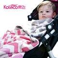 2017 Limitada Swaddle Cobertores Do Bebê Recém-nascido Cobertor Nova Chegada de Animais 10-12 Meses de Malha Lance Ar 102*76 cm 12 cores
