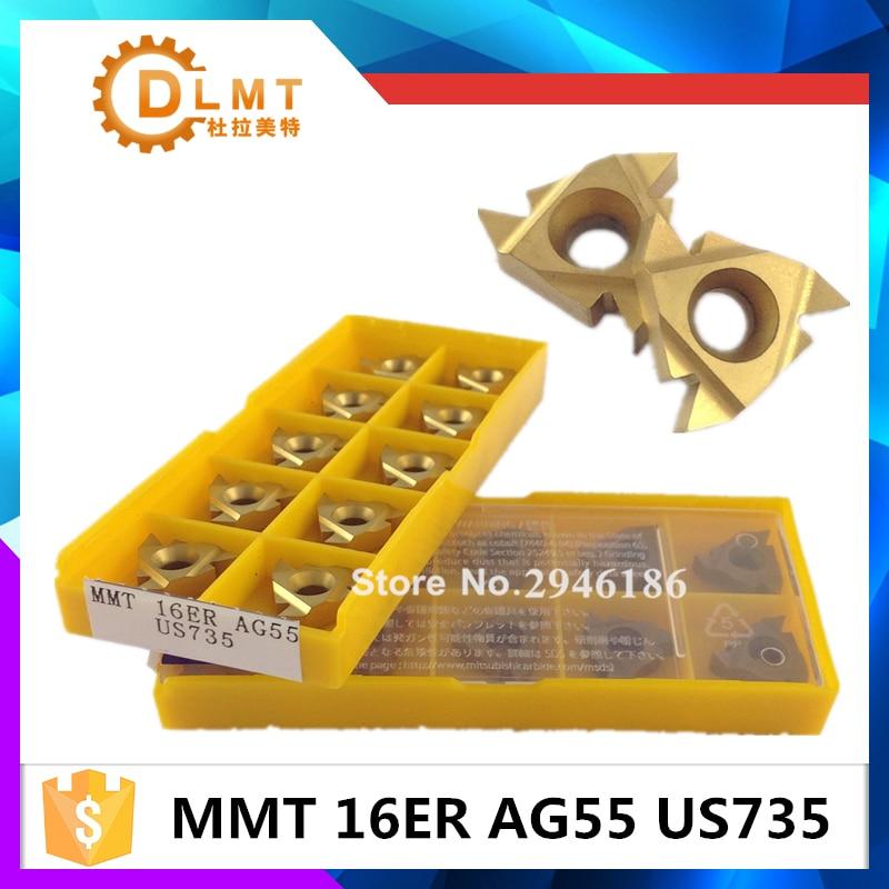 20db MMT 16ER AG55 AG60 US735 Menet esztergáló szerszámok - Szerszámgépek és tartozékok - Fénykép 1