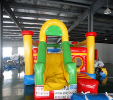 2017factory sale 5.5*4*3 inflatable jumping bounce with slide combo inflatable bouncer house for outdoor