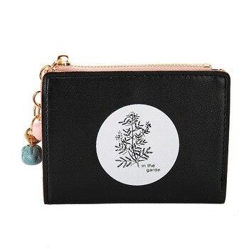 Portfel damski 2019 nowa dama portfel prosty styl zamek damski portfel mała portmonetka kobiece małe portmonetki Cartera Mujer