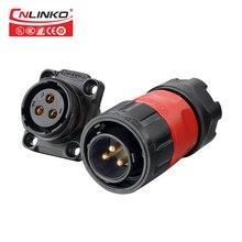 CNLINKO M20 2/3/4/9 핀 케이블 전자 와이어 대 보드 Pastic/Metal 패널 마운트 12V 5 20A 방수 IP67 커넥터 자동차 electrical pins power adapter dorp shipping/ wholesale