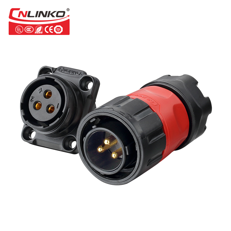 CNLINKO M20 2/3/4/9 Pin Cable Electronic Wire To Board Pastic/Metal Panel Mount 12V 5-20A Waterproof IP67 Connector