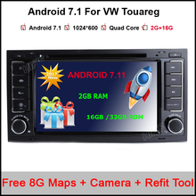 Android 7.1.1 3G WIFI Quad Core 2G RAM Car DVD GPS Radio for Volkswagen Touareg T5 Transporter Multivan 2004-2011 Stereo
