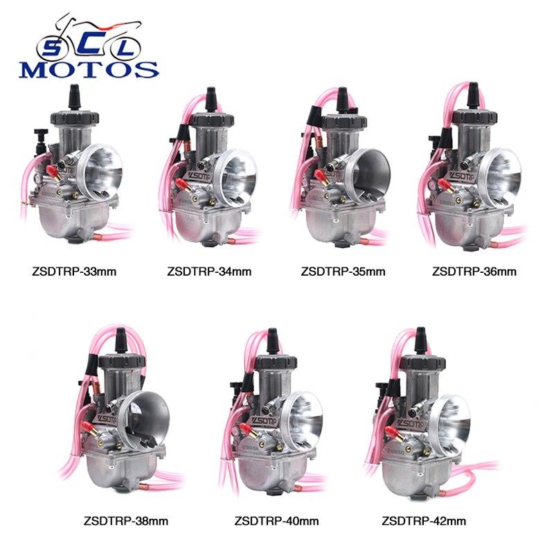 Sclmotos-33,34, 35,36, 38,40, 42mm moto PWK carburateur Air Striker pour Scooter ATV Dirt Bike café Racer 4 T moteur course