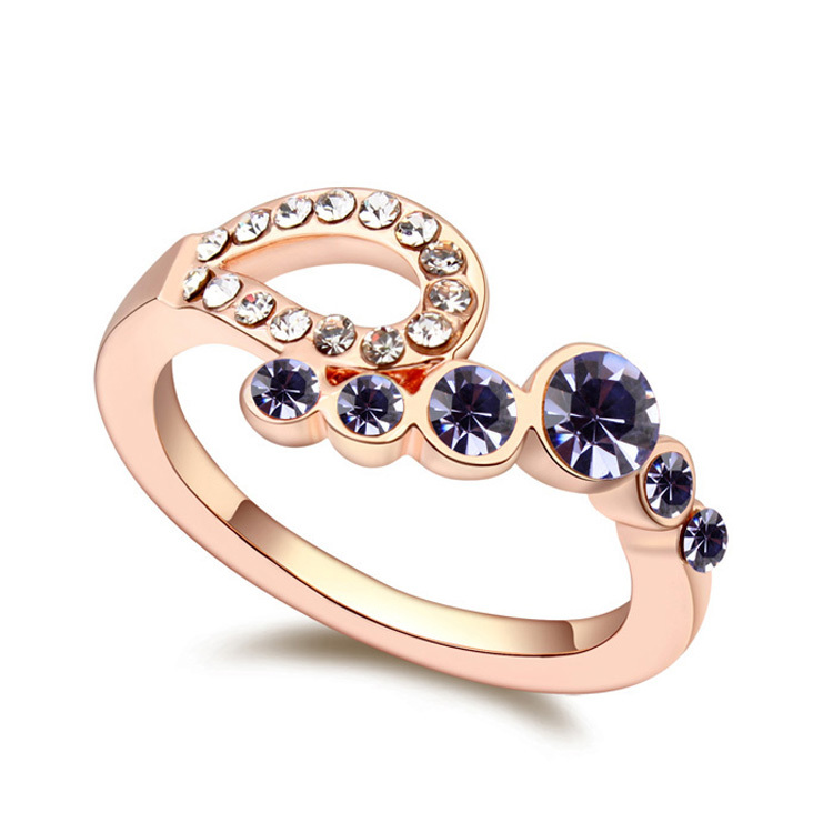 Kpop Skeleton Open Ring Crystal Bijoux for Women Engagement ...