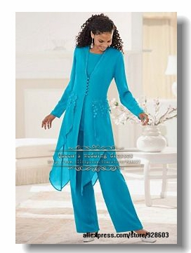 Glamorous purple Chiffon mother of the bride pant suits-in ...