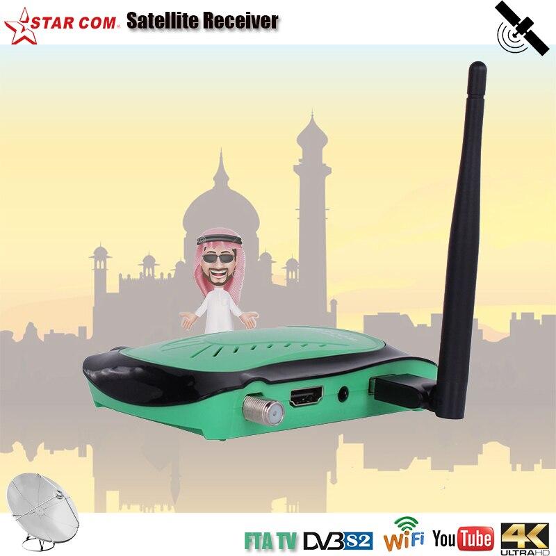 STARCOM  4K Satellite TV Receiver IPTV M3U FTA DVB S2 Tuner HD Digital TV Box Arabic Receiver Satellite Support Bisskey Powruv