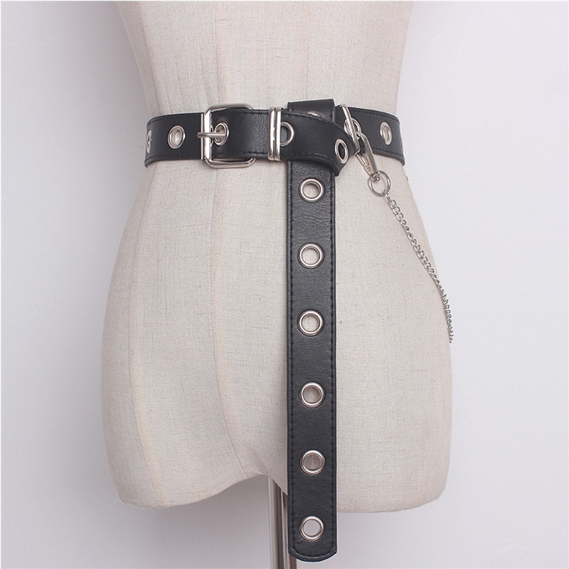 Newest Design Detachable Waist Belt Chain Punk Hip hop Trendy Women Belts Lady Fashion silver Pin Buckle leather Waistband Jeans-in Women's Belts from Apparel Accessories on Aliexpress.com | Alibaba Group