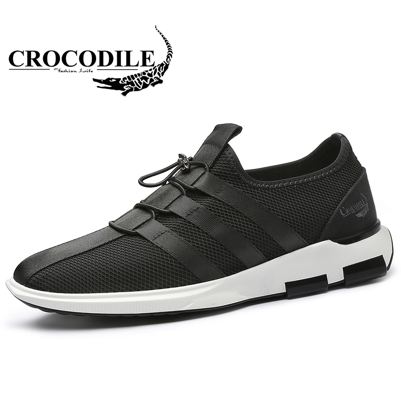Crocodile 2018 New Men Sport Shoes Summer for Men's Vitality Mesh TPU Running Shoes Ventilate Breathable Male Athletic Sneakers
