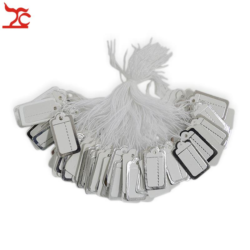 New 100Pcs Jewelry Garment Merchandise Brand Label Price Pricing Tags Tie Strung