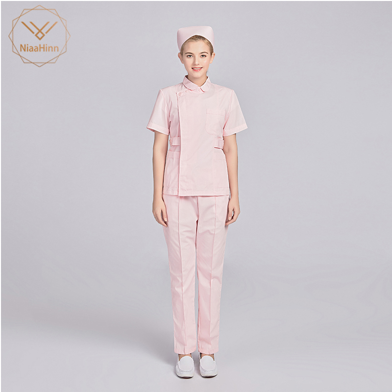 Dentist Surgical Suit Sets New Hospital White Slim Medical Clothing Surgical Scrubs Medical Uniforms Women Laboratory Clothes