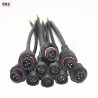5 10 пар 3 Булавки разъем мужчин и женщин Водонепроницаемый кабель IP68 с 20 см косичка проводов для светодиодные модули WS2811 2812b светодиодные пол...
