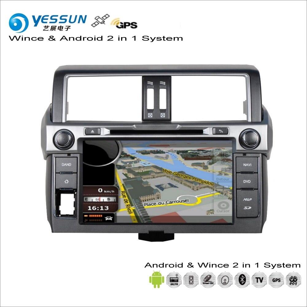 YESSUN для Toyota Land Cruiser Prado J150 2014 ~ 2015 автомобильный радиоприемник для Android компакт дисков DVD плеер с gps навигатором Map Навигация Аудио Видео Стерео