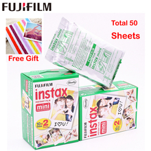 Echte 50 Blatt Weiße Fuji Instax Film Fujifilm Instax Mini 8 Film Für 8 50 s 7 s 90 25 Teilen SP-1 Instant Kameras