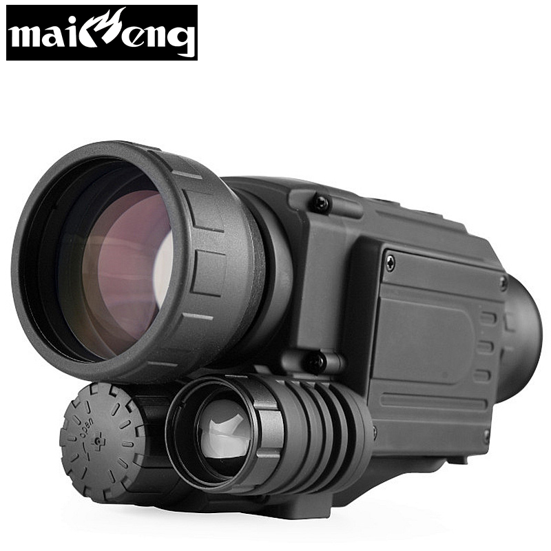 2018 upgrade Infrared Night Vision Monocular scope for Hunting at night High times long range hd with built-in Camera shooting цена