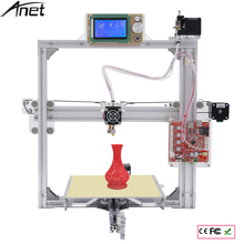 Marco De Aluminio 3D Impresora 6 Opciones de Color plata DIY Prusa i3 Kit de Impresora 3d + Foco + Pantalla LCD + 1 Rollo de Filamento + 8 GB SD tarjeta