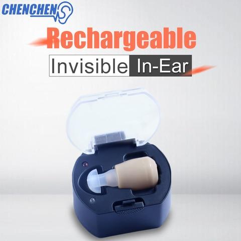 Aparelhos auditivos surdos no ouvido recarreg vel ouvir claro amplificador de som surdos ajuda auditiva