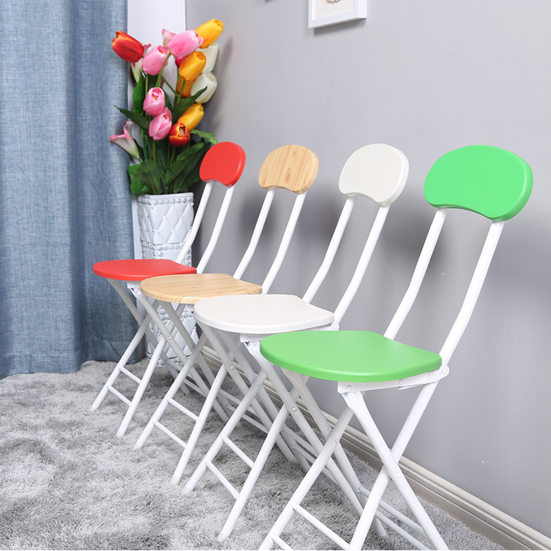 4pcs/ Lot Folding Chair Fashion Dining Table Stool Portable Outdoor Chair Modern Minimalist Office Meeting Training Chair