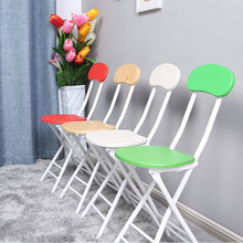 лучшая цена 4pcs/ lot Folding chair fashion dining table stool portable outdoor chair modern minimalist office meeting training chair