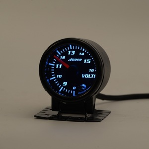 "Image 3 - Car Auto 12V 52mm/2"" 7 Colors Universal Voltmeter Volt Gauge LED With Sensor and Holder AD GA52VOLT"