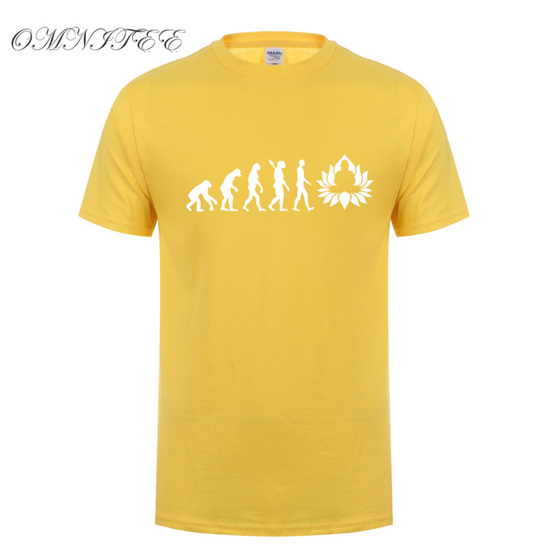 9c8285a7a Famous Omnitee 2017 Fashion Evolution of Buddha T Shirt Funny Buddhism HH99
