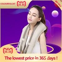 Hot Sale Neck Massager Portable Electric Knocks Cervical Massage Shawls Pain Neck and Shoulder Multi function Tapping Massager