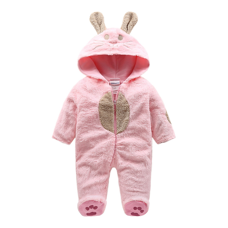 2018 fleece  Baby Animal Jumpsuit rabbit style baby romper , newborn infant Baby Funny Clothes  Cute Newborn Baby Boy Clothes newborn infant baby romper cute rabbit new born jumpsuit clothing girl boy baby bear clothes toddler romper costumes