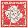 60cm Spring new tassel metal chain silk scarf for Ladies bag free shawl scarves for women handkerchief scarf luxury brand A002