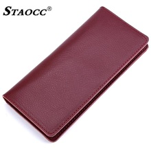 Long Wallet Genuine Leather Women Men Slim Thin Purse Simple Money Bag Cards Holder Purse Clutch Wallets Cowhide Carteira Mujer fashion women genuine leather red black bag cowhide wallet card money holder clutch purse long short purple original wallets