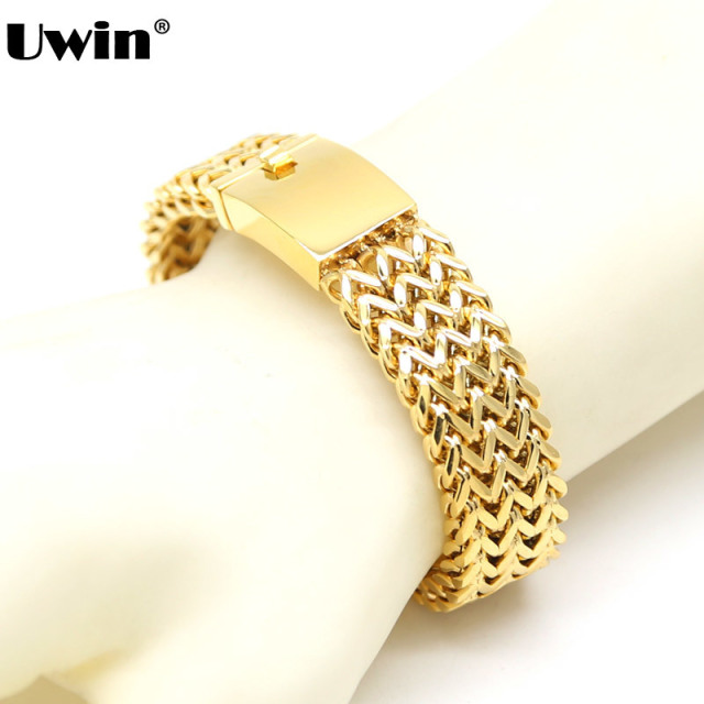 gold franco link real hollow inches white mens bracelet mm