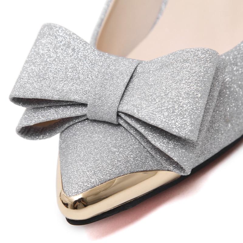 Zapatos gold Chaussures silver En Oficina Punta Altos Arco Negro 6 Moda Bajo Cm Black Tacones Femmes Mujeres Elegante xqXXTHa