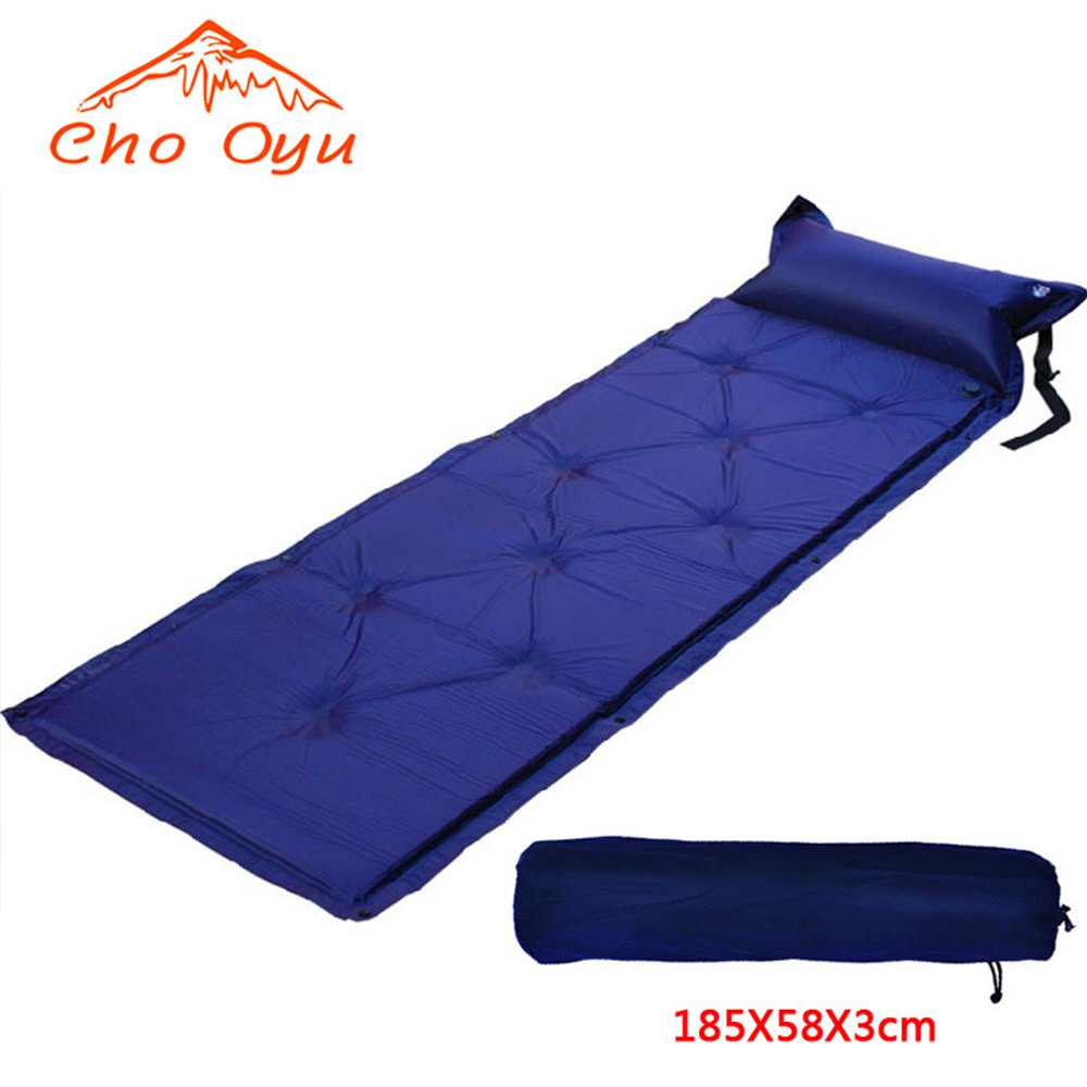 Inflatable mattress beach mat Automatic air mattress camping mat air bed with Pillow sleeping pad 193*65 inflatable mattress beach mat automatic air mattress camping mat air bed with pillow sleeping pad 188 57