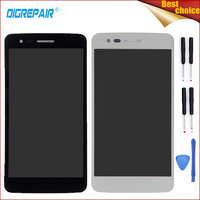 Black Sliver For LG K8 2017 Aristo M210 MS210 US215 M200N Cellphone LCD Display Digitizer Touch