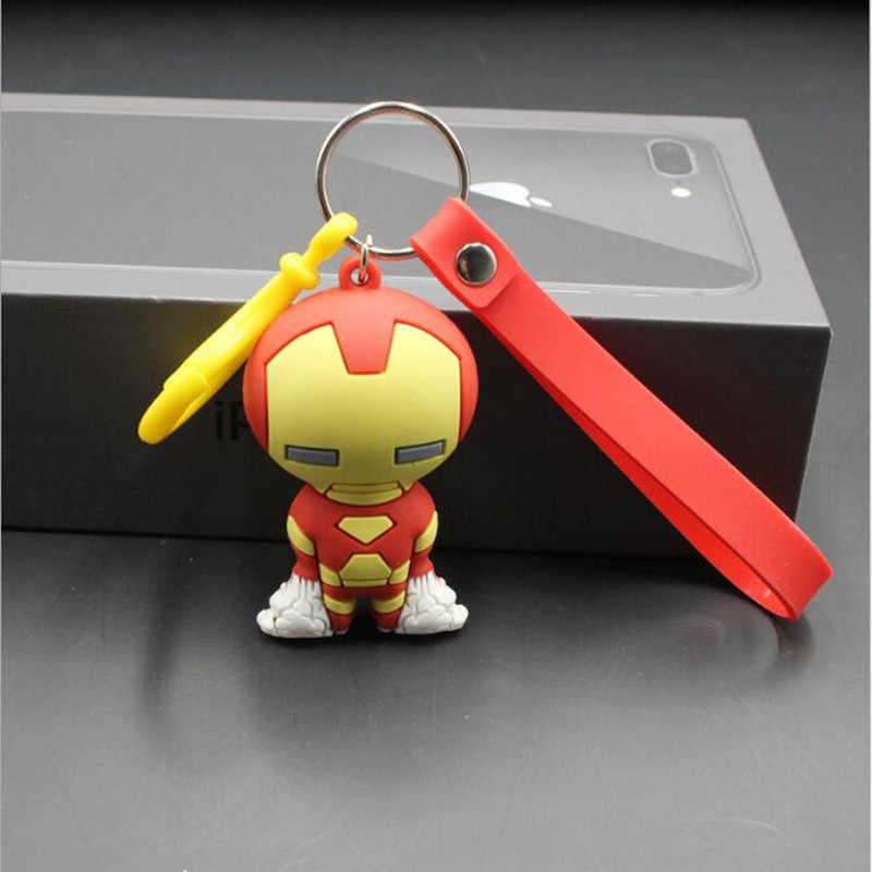 Marvel Avengers Iron Man พวงกุญแจจี้กัปตันอเมริกา Spiderman Batman Superman การ์ตูนนุ่มตุ๊กตาของเล่น