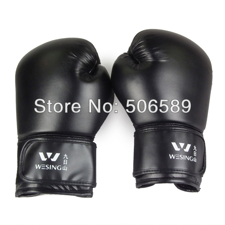 professional boxing font b gloves b font adults PU leather red black SD10 2