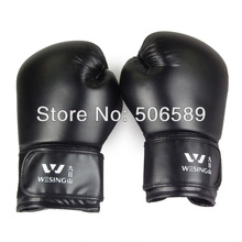 professional boxing gloves adults PU leather red black SD10 2