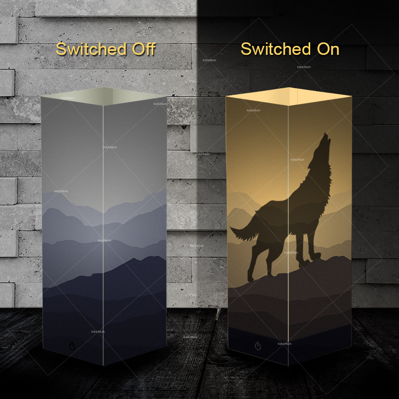 Pet Addiction Howl wolf design Night Light Beside Table shadow LED night light Lamp as gifts for wolf lovers цена 2017