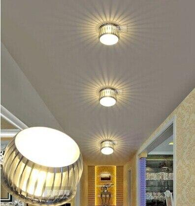 ФОТО All aluminum LED corridor lamp 5W porch lamp foyer light corridor balcony ceiling lamp lamp Free shipping