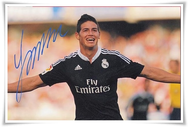 official photos d7548 bc336 James Rodriguez autographed signed with pen photo 4*6 inches ...