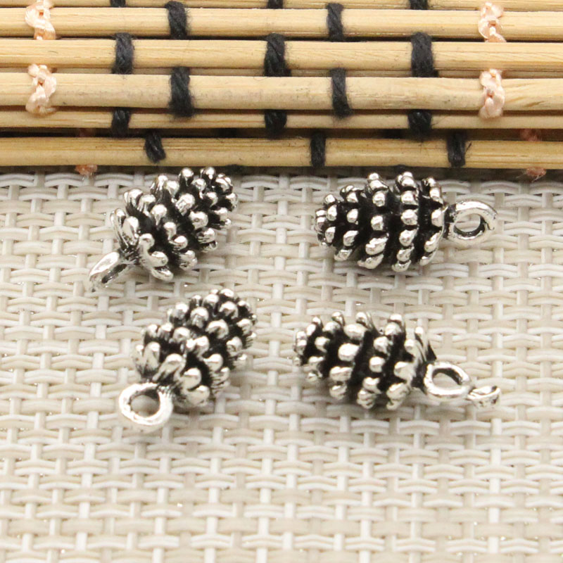 10pcs Charms pinecone 15*8mm Tibetan Silver Plated Pendants Antique Jewelry Making DIY Handmade Craft