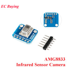 AMG8833 IR 8*8 moduł kamery czujnik na podczerwień kamera termowizyjna moduł czujnika temperatury IIC I2C 3 5V dla Arduino