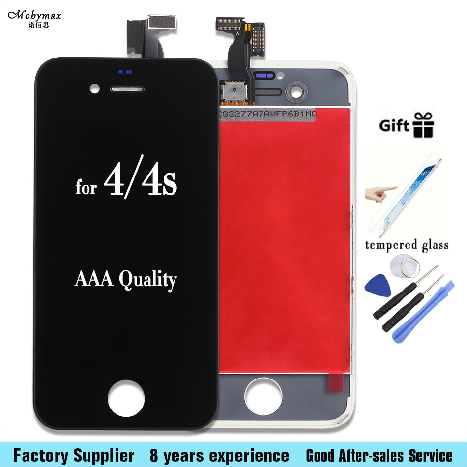 For iPhone 4 4G 5 5G 7 7G LCD Touch Screen Digitizer Display Complete Assembly With Frame+tool kits+Tempered film