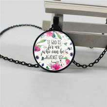 Romans 8 31 bible quote if God is for us who can be against us Christian verse fourth jewelry women Men gifts hot new romans 8 31 bible quote keychain if god is for us who can be against us verse christian nursery jewelry women men gifts
