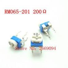 50 PCS 200 ohm 201 RM065-201 Trimpot Trimmer Potenciômetro RM065 RM-065 resistor variável frete grátis