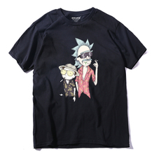 COOLMIND RI0130A quality cotton short sleeve men rick and morty t shirt casual loose summer tshirt men o-neck men t-shirt