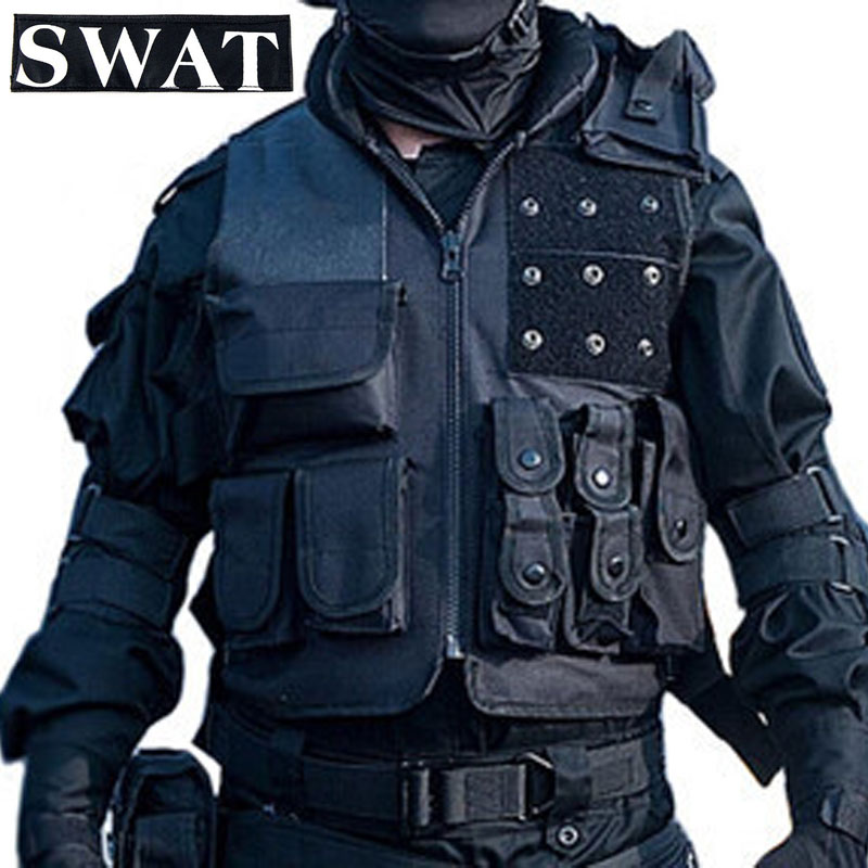 Airsoft Tactical Vest Swat Military Paintball Tactical Hunting Combat Vest Training Protective Equipment outdoor training mesh waistcoat safety clothing hunting equipment swat airsoft cs paintball tactical hunting combat assault vest