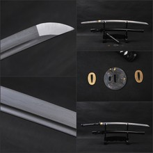 Black Theme Completely Handmade Japanese Samurai Katana Sword Full Tang Sharp Folded Steel Battle Ready Knife