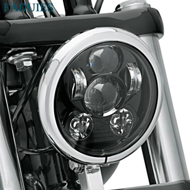 """FADUIES Black 5.75"""" motorcycle led headlight 5 3/4"""" Led headlight For Harley Motorcycle Black LED headlight"""