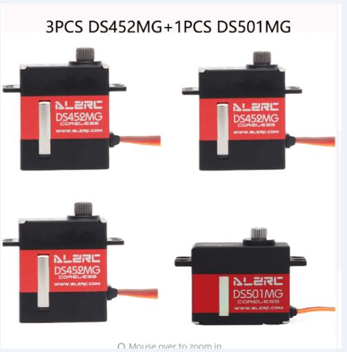 3PCS DS452MG ALZRC Servos 1PC DS501MG Servo For RC 380 450 480 500 Helicopter