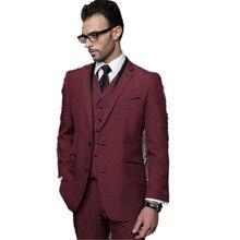 New Men's suits, fashion Tuxedos For Men Groom Wedding Suits Men Blazer Prom Party Suit Business Suit Jacket+Pants+Vest